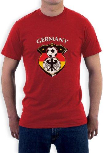 Deutschland Fußball-Weltmeisterschaft T-Shirt Rot