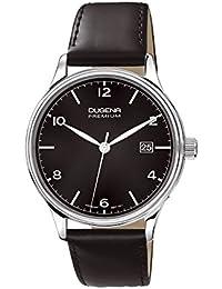Dugena Herren-Armbanduhr Minor - Traditional Classic Analog Quarz Leder 7000248
