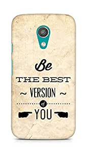 Amez Be the Best version of Yourself Back Cover For Motorola Moto G2