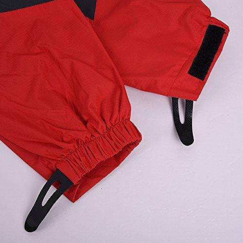 iBaste Outdoorjacke Damen Regenjacke mit Kapuze Softshelljacke damen Bergsteiger Jacke Wasserdicht atmungsaktiv Wanderjacke Rot