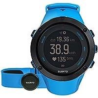 Suunto Unisex Ambit3 Multisport-/Outdoor GPS-Uhr, 30 Std. Akkulaufzeit, Herzfrequenzmesser + Brustgurt in blau (Gr. M), Wasserdicht bis 100 m, saphirblau, SS022305000