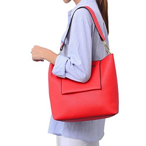 Dissa S865 Nuovo Stile Pu Pelle Deman 2018 Moda Borse A Tracolla Borse Borse, 350 × 120 × 270 (mm) Rosso