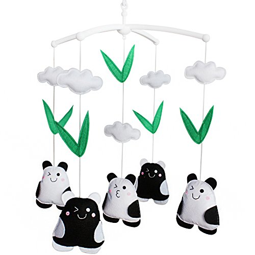 - Baby Krippe Musical Mobile Lovely Spielzeug für Babys Tier Baby Mobile [Panda]