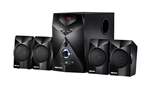 Oshaan S17 4.1Channel Multimedia Home Theater Speaker,Bluetooth connectivity,FM/AUX/USB Support