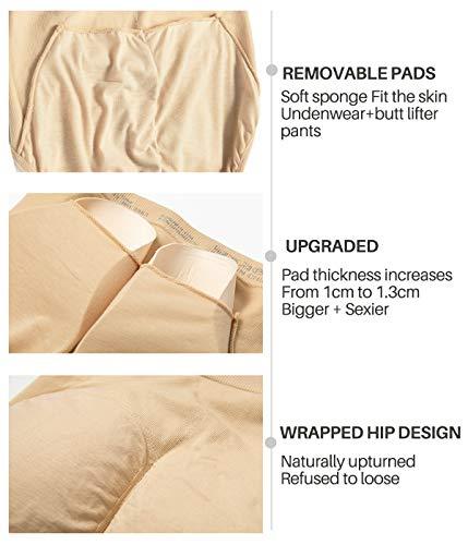 COMFREE Bauchweg Unterhose Shaping Unterwäsche Miederslip Figurformende Miederhose Butt Lifter Beige S M - 3