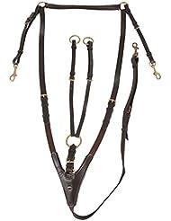 Horka Pechopetral elástico desmontable Gamarra Riendas de caballo Formación de calidad, negro/plata