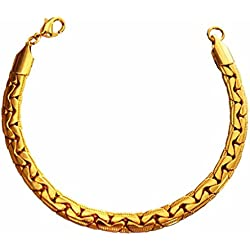 Mens Fashion Jewellery Stylish Gold Herringbone Wheat Chain Design Bracelet