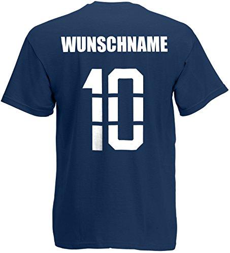 Kroatien Hrvatska T-Shirt Trikot Name Nummer Navyblau