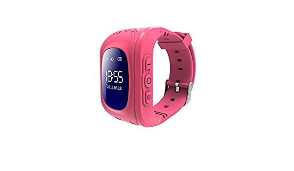 inkasus Montre Bluetooth traceur GPS pour enfant - Rose: Amazon.fr: High-tech