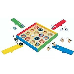 Small Foot Company 7959 - juego de Mesa para Encestar Ratones de Madera