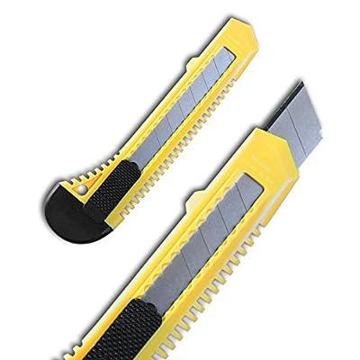 144 Stück Teppichmesser Cuttermesser / Cutter Messer mit 18mm Abbruchklinge Posten von HSM bei TapetenShop