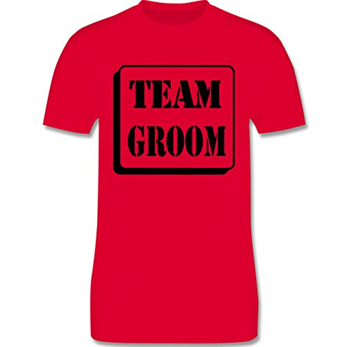 JGA Junggesellenabschied - Team Groom - Herren Premium T-Shirt Rot