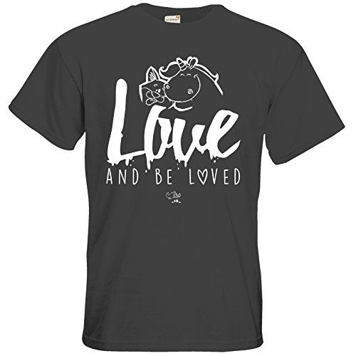 getshirts - Pummeleinhorn - T-Shirt - love and be loved Dark Grey