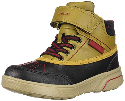 Geox Jungen J SVEGGEN Boy B ABX A Klassische Stiefel, Gelb Yellow/Dk Red C2g7m, 32 EU