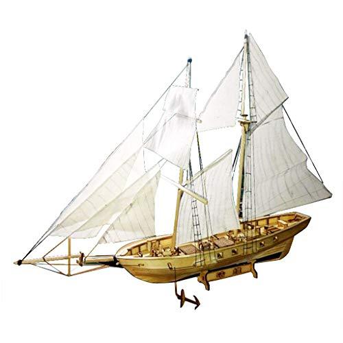 Modelo Velero Barco Vela de Madera Juguete Kits para DIY Bricolaje Montar Ensamblar - Harvey Ship