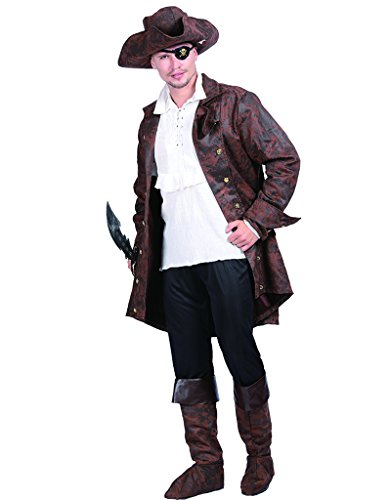 Kapitän Piraten Deluxe Kostüm - EraSpooky Herren Piraten Kapitän Jack volle Deluxe Kostüm Kleid Outfit