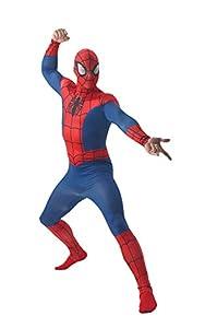 """MARVEL ~ Spider-Man - adulto del vestido de lujo del traje de licencia Con separada Redecilla Nuevo 2015 Tamaño estándar (Pecho 38-42"""")"""
