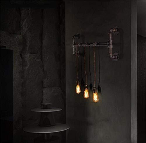 ZHYTX Wandleuchte - American Country Vintage Schmiedeeisen betrieben Persönlichkeit Outdoor Bar Korridor Korridor Stecker Wand - Lampe Wanddekoration erweiterbar -