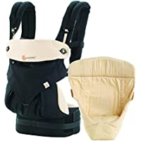 Ergobaby Baby Carrier Collection 360 Bundle of Joy (3.2 - 15 kg), Black/Camel