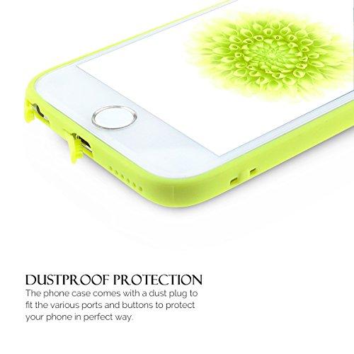iPhone 6S Hülle, iPhone 6 Silikon Schutzhülle, Anfire Candy Handy Case Hülle für Apple iPhone 6S / 6 (4.7 Zoll) Liebe Herz Muster Weich TPU Silikon Schutzhülle Schön Muster Schale Tasche Ultradünnen E Grün