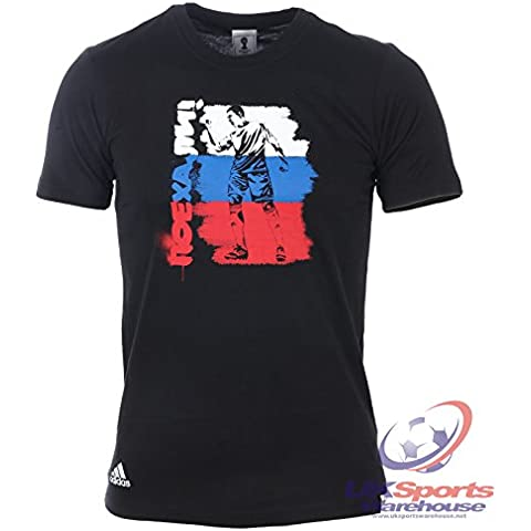 adidas da uomo Russia Grafica Tee / T-Shirt Fifa Mondo Coppa Brasile (G77822) - M