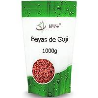 Bayas de Goji Deshidratadas Vivio, 1 kg. Nutritivas y Deliciosas. Perfecta Conservación gracias a su Paquete Hermético.