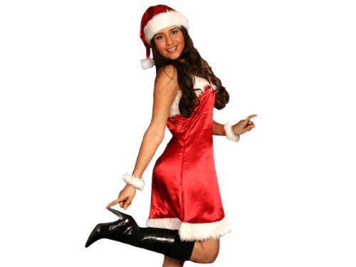Alsino Sexy Weihnachtskostüm Deluxe für Frauen 5 Teilig ()