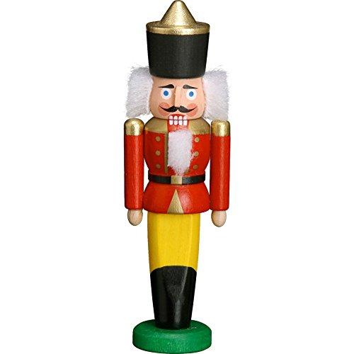 Seiffener Volkskunst Mini-Nussknacker - König Rot 9cm