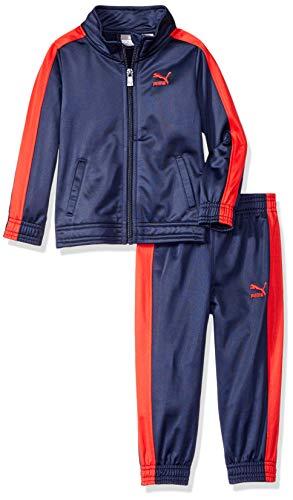 PUMA Toddler Boys' Tricot Pant Set, Peacoat, 2T