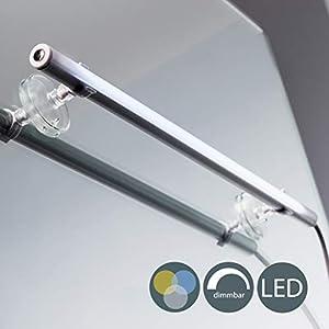 LED Spiegelleuchte zum Schminken Spiegellampe Schminklicht Schminkleuchte Tageslicht Make Up Mit Dimmfunktion Mit Farbwechsel, 4 Watt, 420LM inklusive Saugnäpfe Wandstrahler