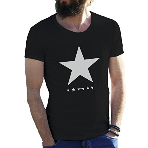 Black Star David Bowie Herren T-Shirt Schwarz