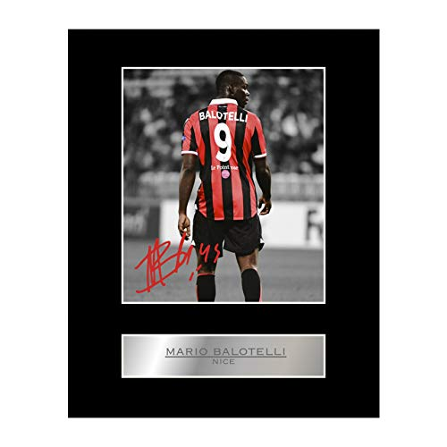 Mario Balotelli Photo dédicacée encadrée Nice FC