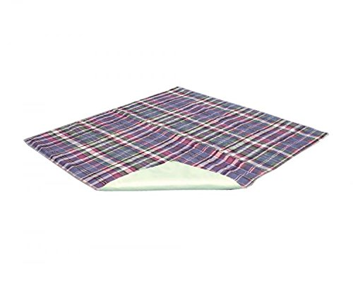 Essential Medical Supply Quik Sorb 18 x 24 Plaid Quilted Reusable Underpad by Essential Medical Supply (Sorb Underpad)
