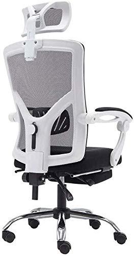 ZHOU.D.1 Ergonomischer Bürostuhl Bürostuhl -Executive Computer Bürostühle hohe Rückenlehne, Swivel Aufgaben-Stuhl aus Metall mit Fußstützen Einstellen Kopfstütze 360   Grad Rotation Sitz YangMi -