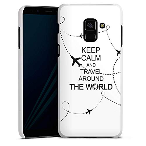 DeinDesign Hülle kompatibel mit Samsung Galaxy A8 Duos 2018 Handyhülle Case Reisen Travel Keep Calm