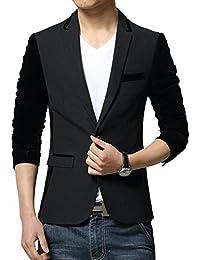 Vividda Costume Manteau Hommes Style britannique Slim Multi Color 1 bouton Blazer Veste Casual