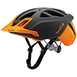 Bollé (CEBF5) 31645 Casco Ciclismo, Unisex Adulto, Gris/Naranja (Flash Orange), 51-54 cm