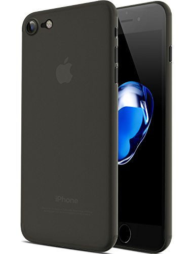 iPhone 7, iPhone 8 Hülle - Ultra dünn, extrem stabiles Cover, unauffällige Schale, Premium Schutzhülle, für Apple iPhone 7, 7 Plus und 8 (iPhone 7 & iPhone 8, Transparent Schwarz)