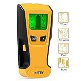 INTEY Rilevatore Metalli Cavi Elettrici 3 in 1 Multi-Scanner con 3 Modalità Schermo LCD, Metallo/Filo AC/Stud Sensore di Materiali, Giall