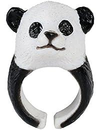 Caimeytie Anillo infantil Tamaño Ajustable Diseño de Panda 3D