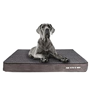 The Dog's Bed, Premium Plush Orthopedic Waterproof Memory Foam XXL Dog Bed, Eases Pet Arthritis, Hip Dysplasia & Post Op Pain, Quality Therapeutic & Supportive Bed, Washable Covers