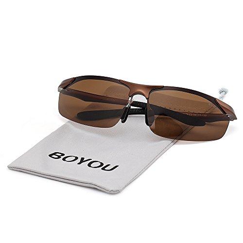 BOYOU Polarisierte Sport-Sonnenbrillen für Radfahren Baseball Fahren mit UV400 Schutz