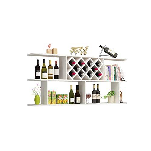 Kitchen furniture - Étagère murale en bois, étagère à vin en bois étagère murale étagère à vin WXP (Couleur : Blanc)