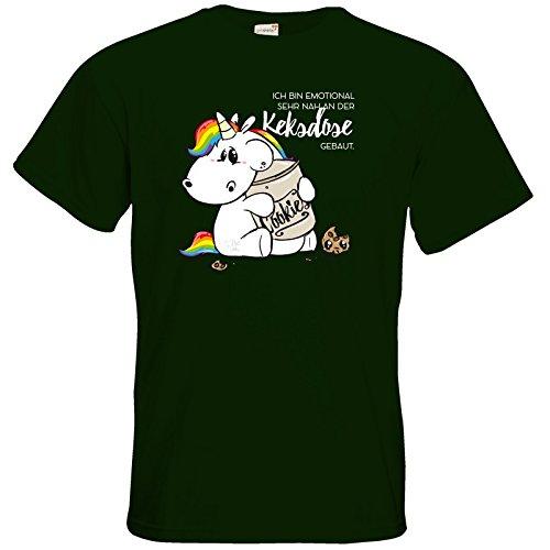 getshirts - Pummeleinhorn - T-Shirt - Keksdose Bottle Green