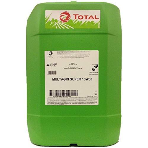 TOTAL MULTAGRI SUPER 10W-30 - Olio multiuso universale per trattori e macchine da raccolta, 20 lit