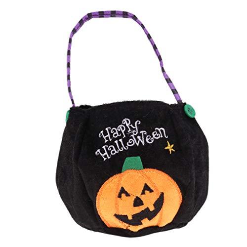 Cabilock Süßes oder Saures Tasche Halloween Candy Eimer Kürbis Handtasche für Kostüm Party Dekoration Geschenk (Halloween Biber Kostüm)