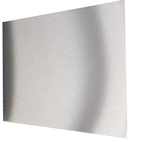 School-Maxx Spritzschutz aus Edelstahl, ca. 800 x 400 x 1 mm