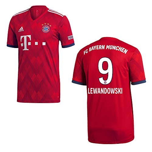 adidas FC Bayern MÜNCHEN Trikot Home Kinder 2019 - Lewandowski 9, Größe:140