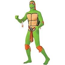 Rubie 's oficial Michelangelo 2nd Skin disfraz de las Tortugas Ninja, disfraz para adultos–tamaño mediano