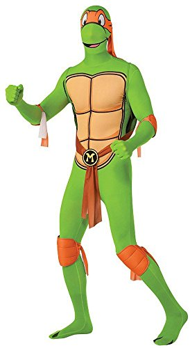 Teenage Orange Turtle Ninja Mutant (Michelangelo Teenage Mutant Ninja Turtles Kostüm für Herren,)